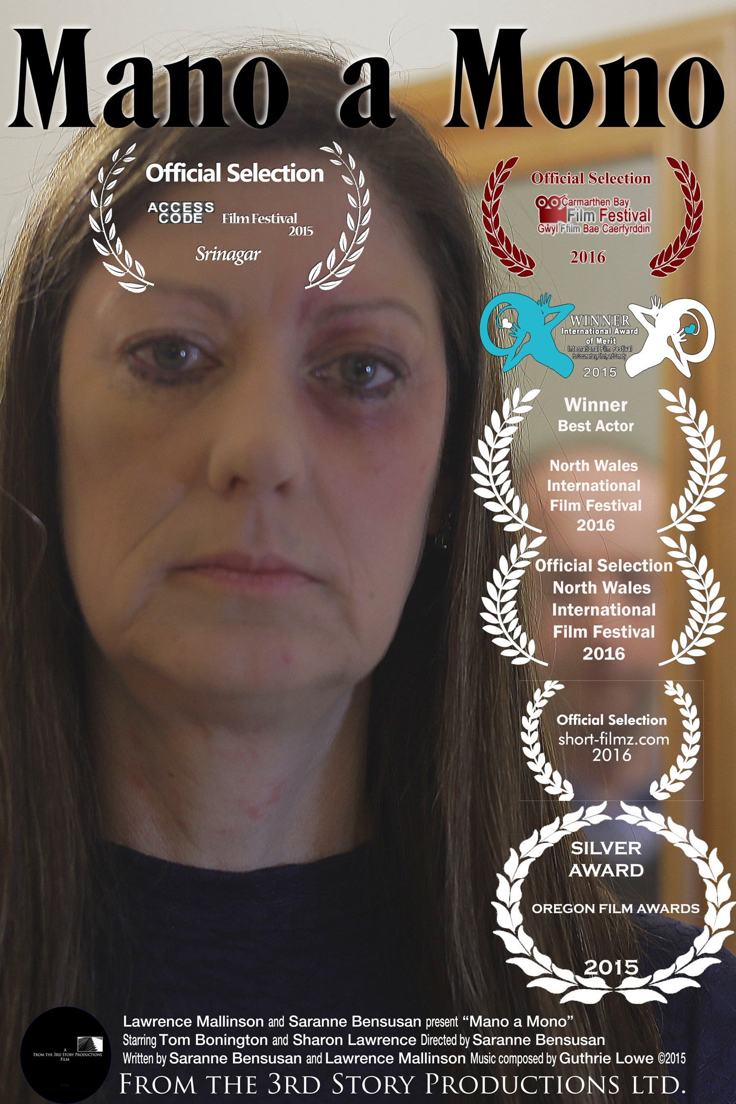 Mano a Mono poster and award-winning film written produced and directed by Saranne Bensusan